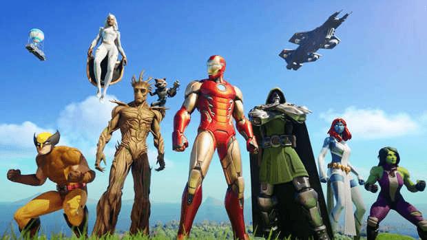 Fortnite Saison 4 Marvel Epic Games
