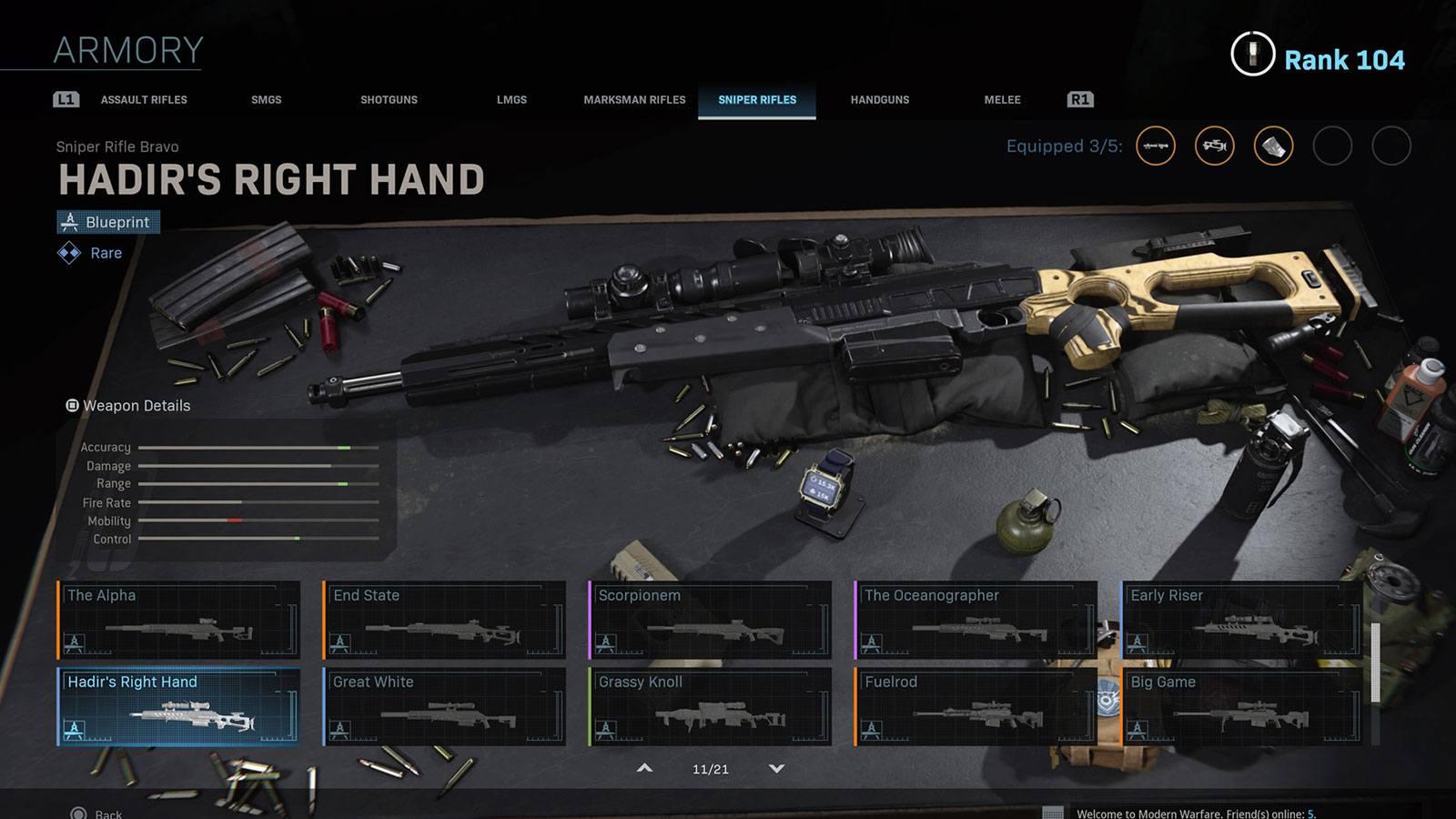 Modern Warfare arsenal Infinity Ward
