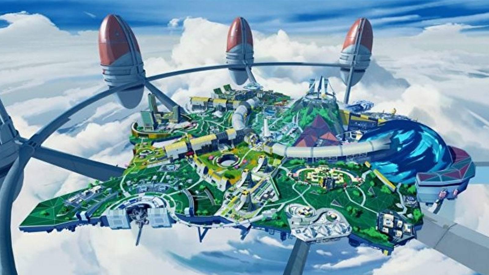 Apex Legends Olympus vue aérienne Respawn Entertainment