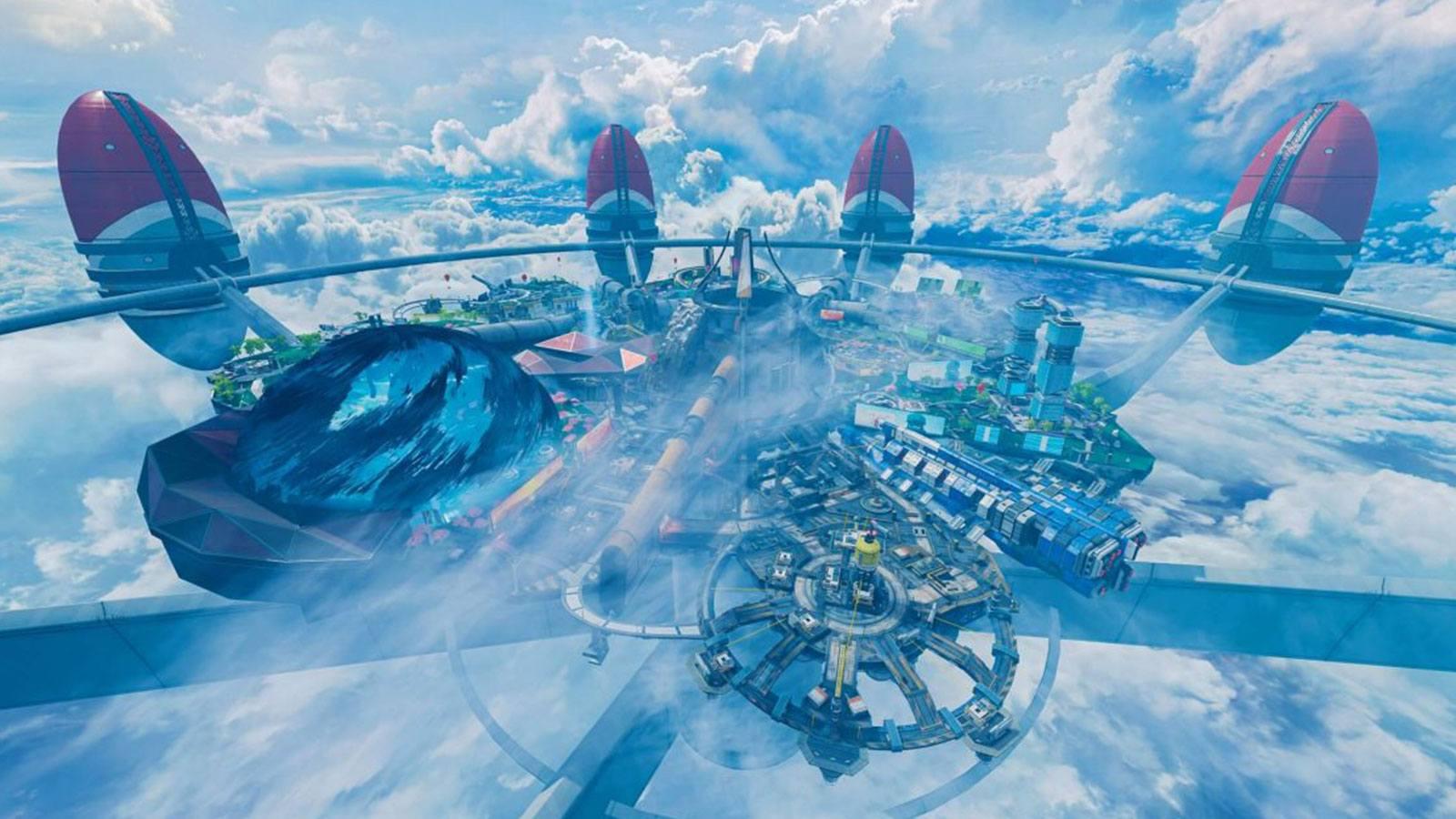 Apex Legends vue aérienne Olympus Saison 7 Respawn Entertainment