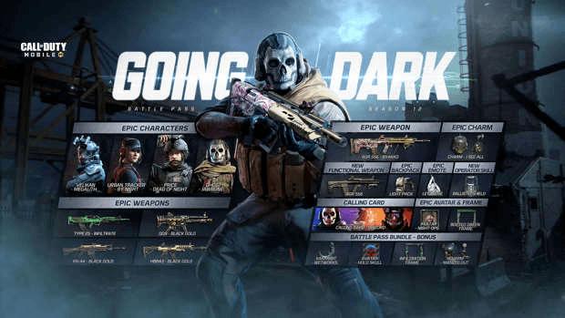 CoD Mobile Saison 12 Going Dark Activision battle pass