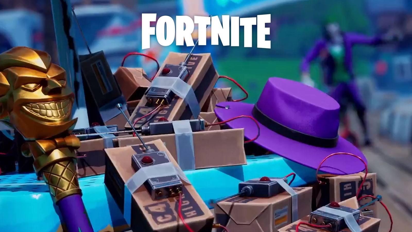 Epic Games pack Dernier Rire Joker C4 Fortnite