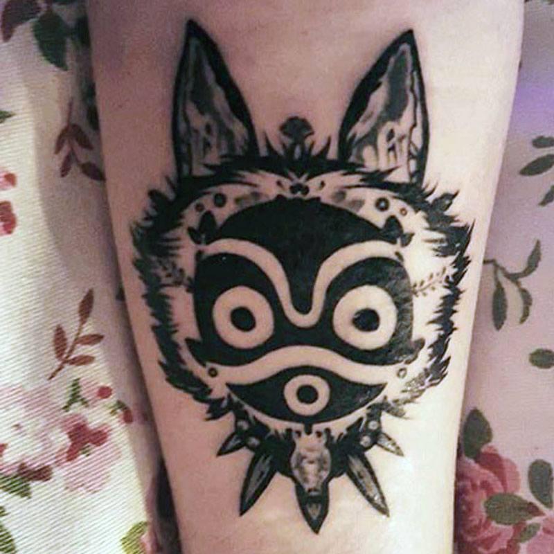 Tatouage masque Mononoké