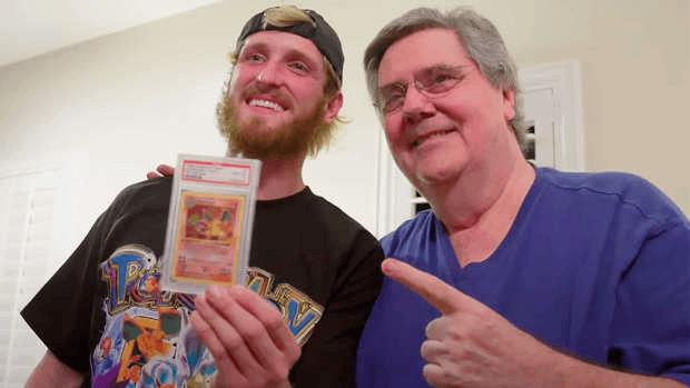 Logan Paul Gary King Pokemon Dracaufeu PSA 10