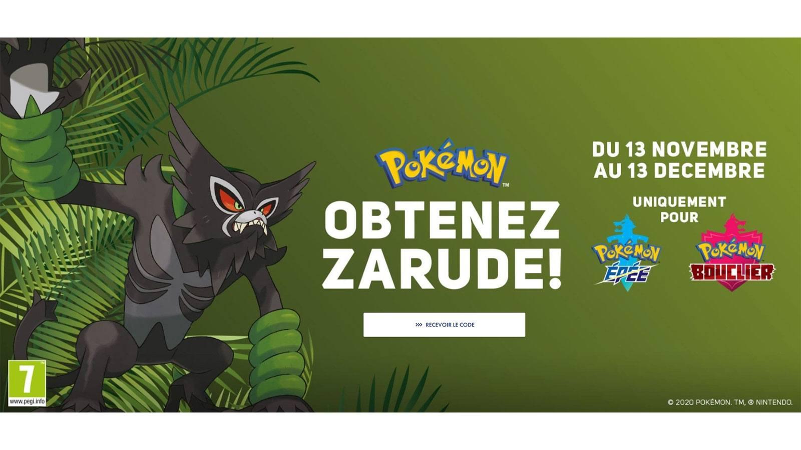 offre promotionnelle Micromania Zarude Pokémon