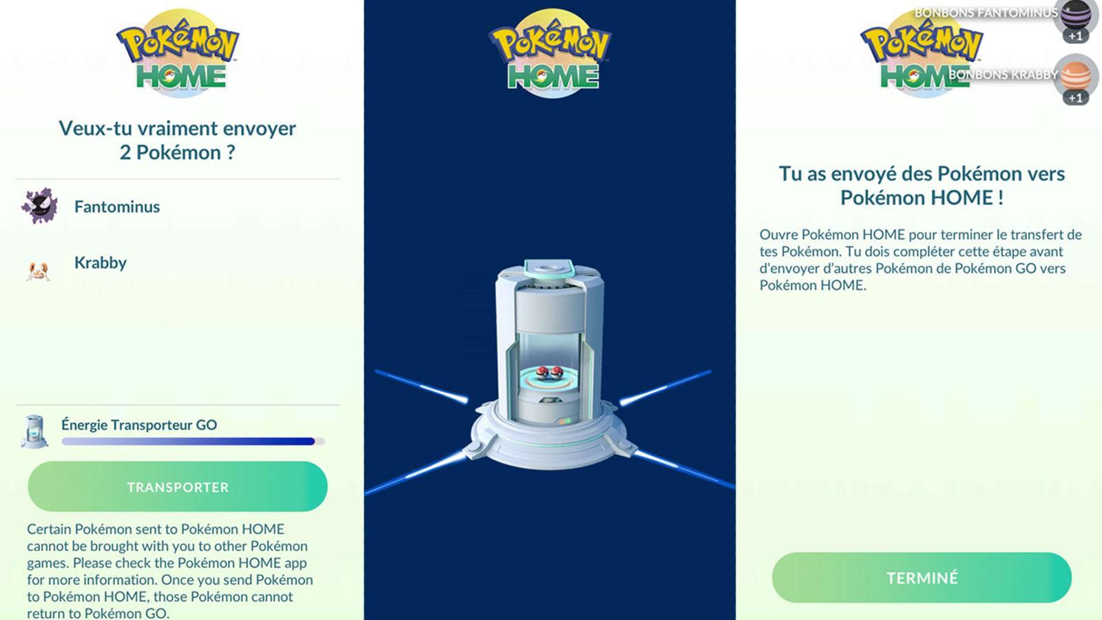 Transfert Pokémon Go Home Pokémon Company