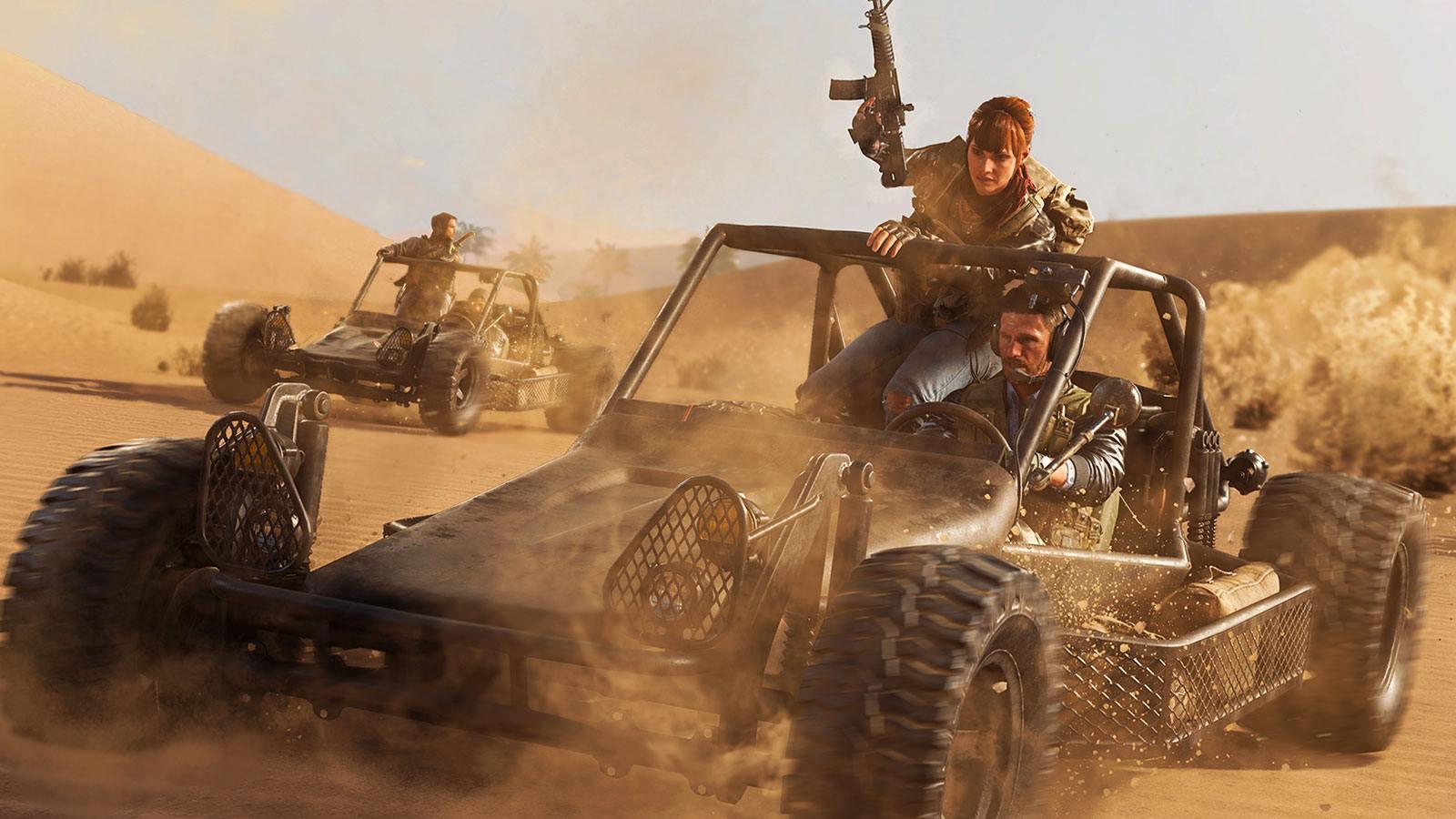 Black Ops Cold War buggy désert