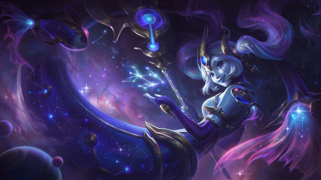 Skin League of Legends 10.24 Cosmic Nami