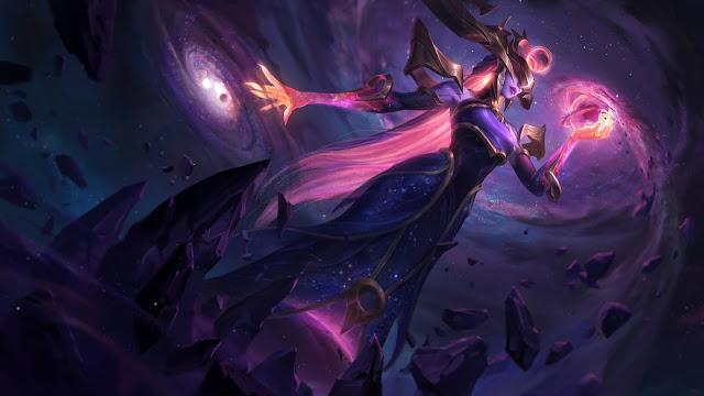 Skin League of Legends 10.24 Dark Cosmic Lissandra