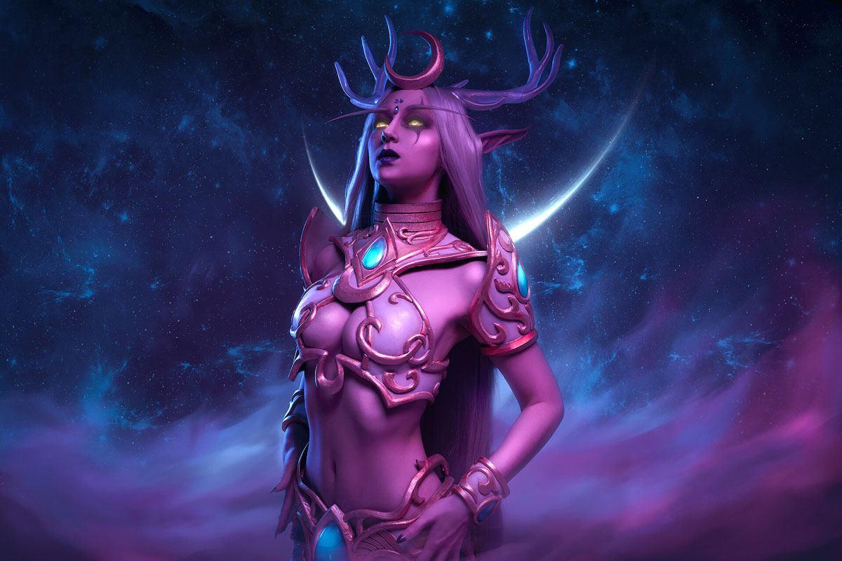 Cosplay d'Elune dans World of Warcraft