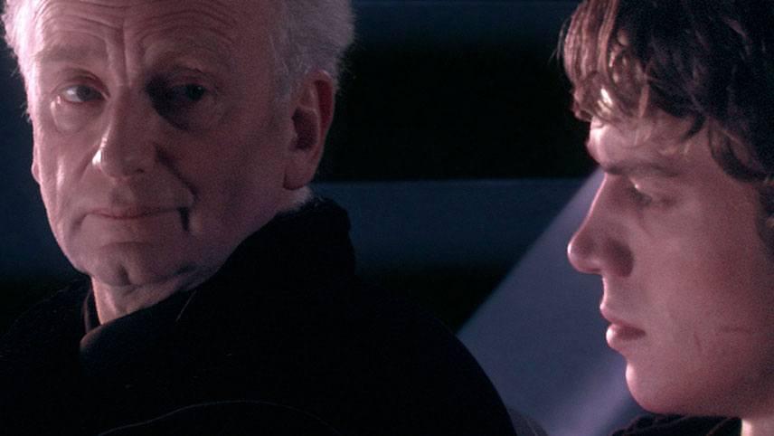 Palpatine et Anakin dans Star Wars III