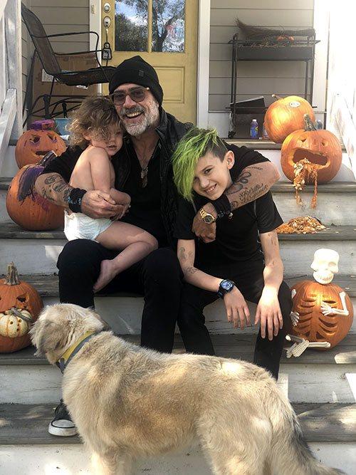 Jeffrey Dean Morgan et ses enfants