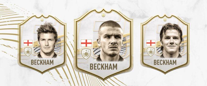 Carte FUT icône de David Beckham