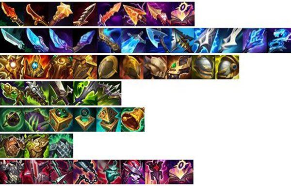 La ressemblance des nouveaux objets League of Legends