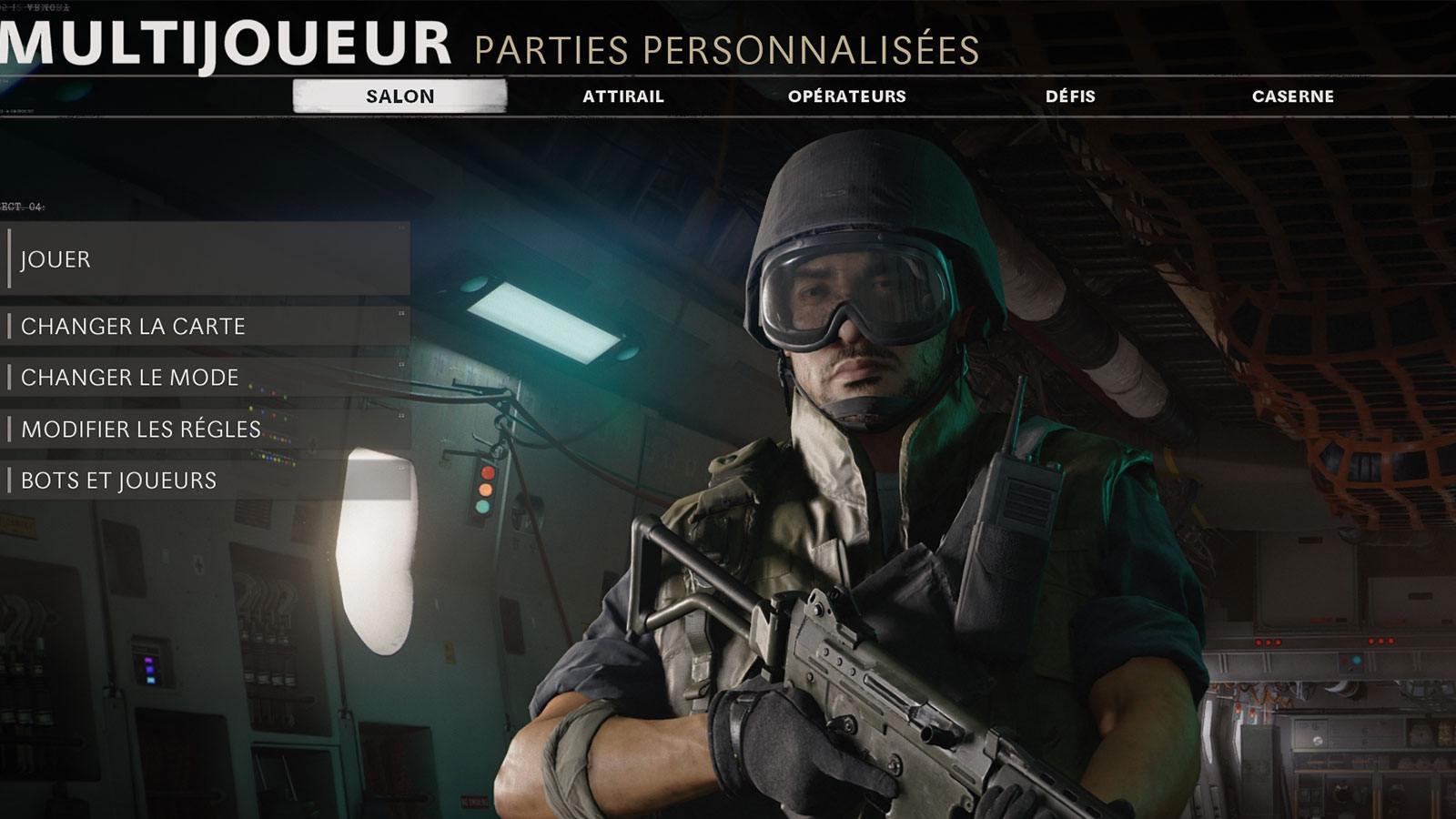 Black Ops Cold War partie personnalisée Treyarch