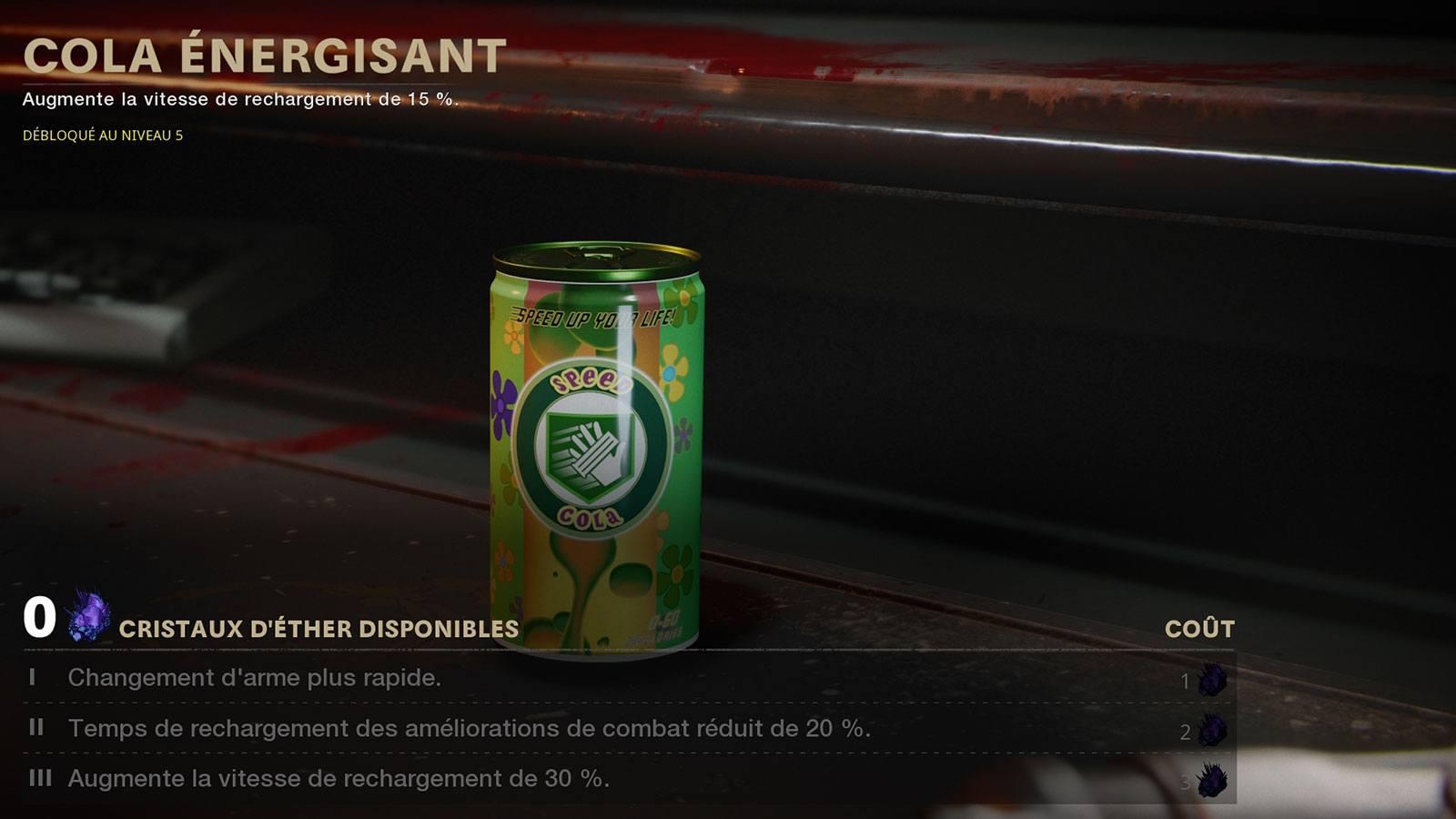 BOCW zombies atout Speed Cola
