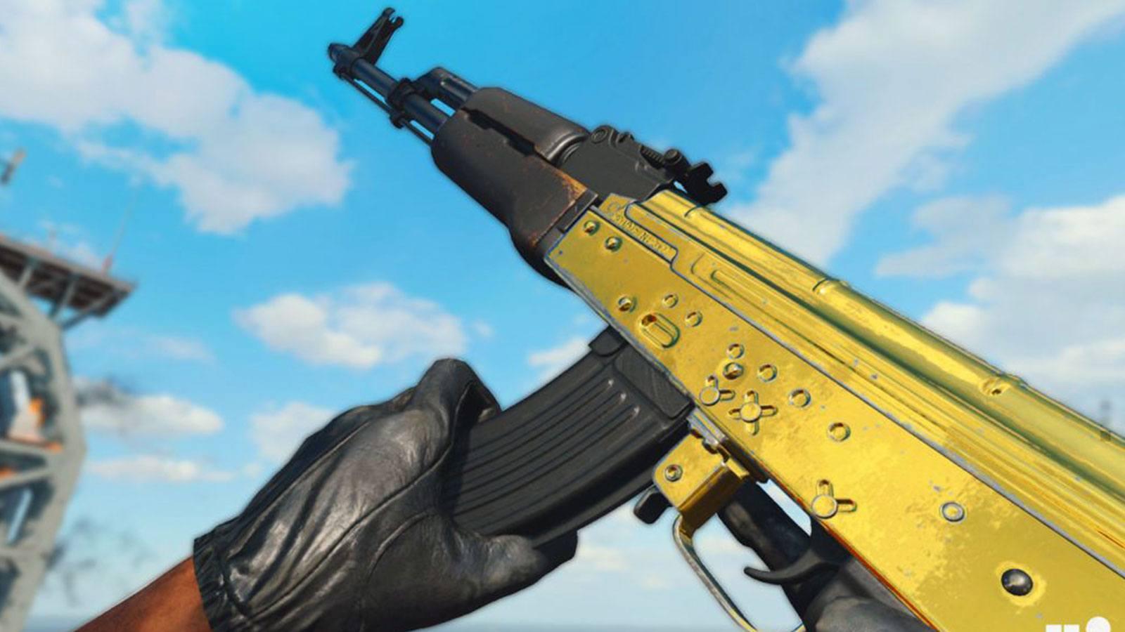 BOCW AK-47 camo gold Treyarch