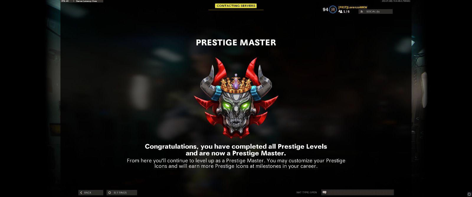 Prestige master icone  BOCW Lorenso0 Treyarch