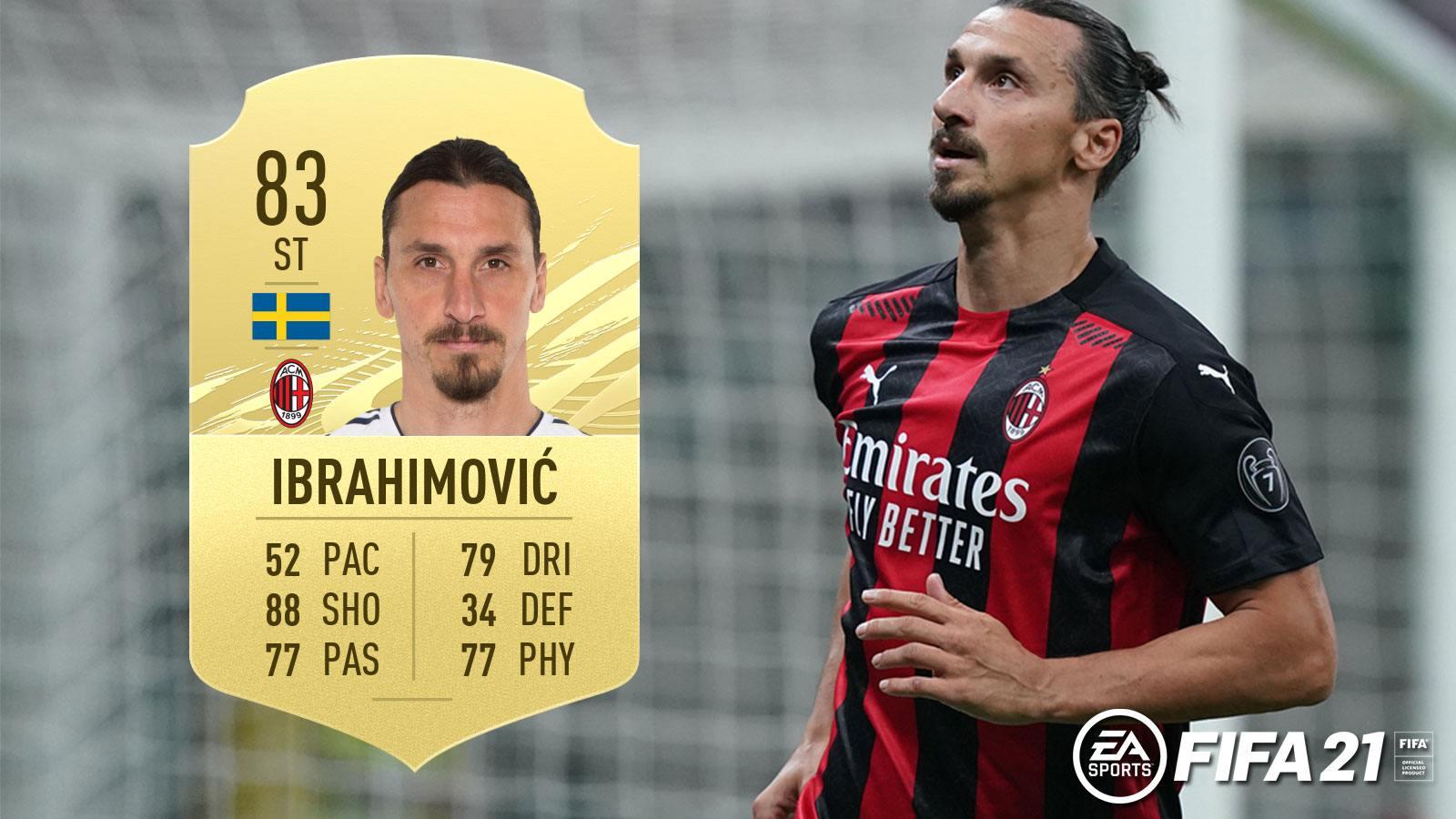 Zlatan Ibrahimovic dans FIFA 21