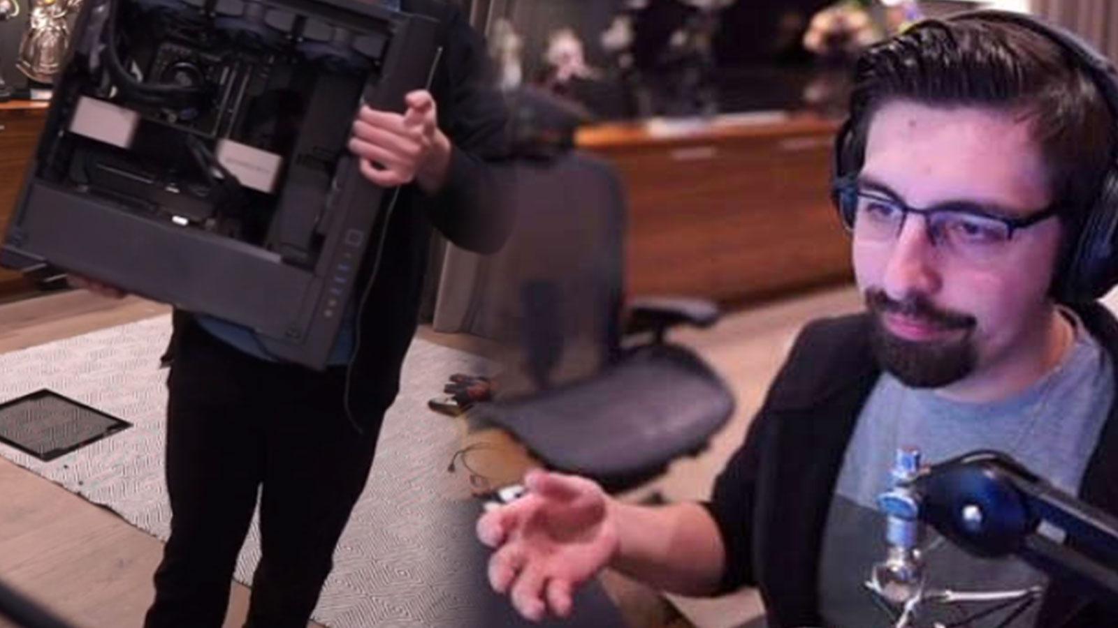 Les viewers de Shroud ont été amusés par le nouveau PC de Shroud