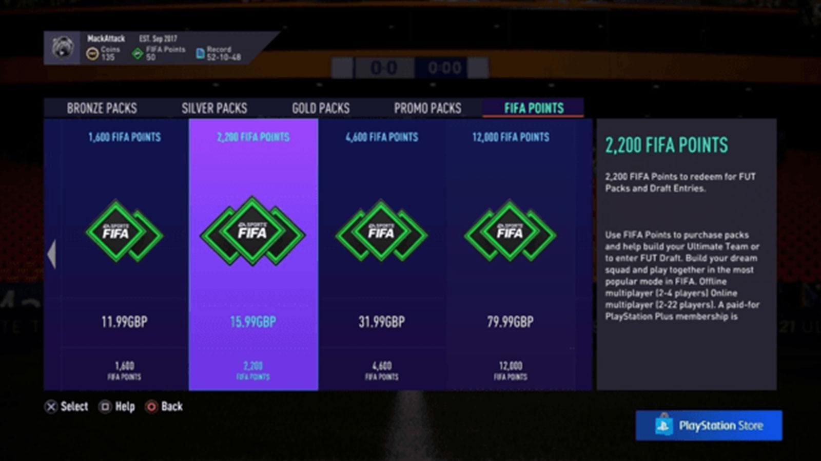 FIFA 21 achat points FIFA EA