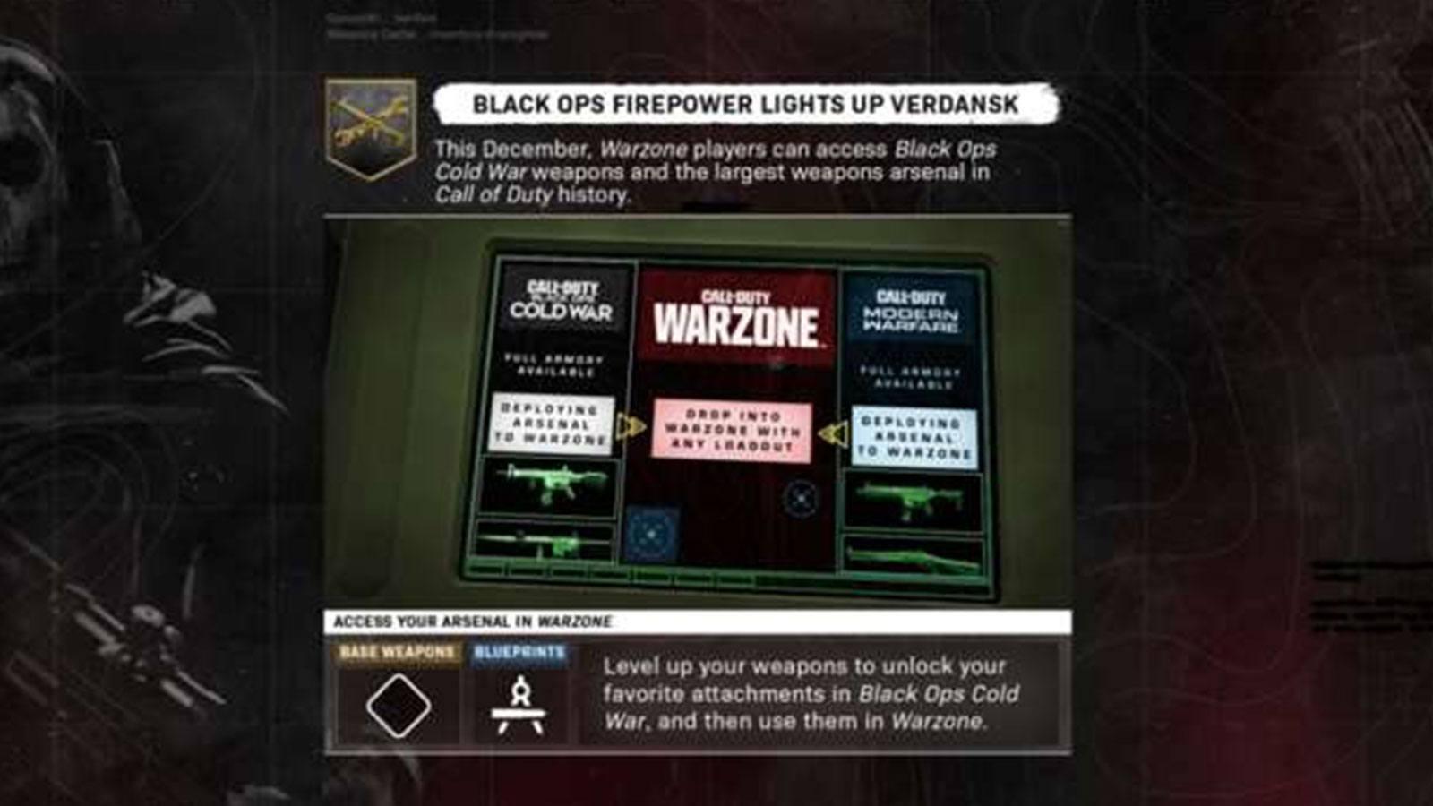 CoD BOCW Warzone armes système