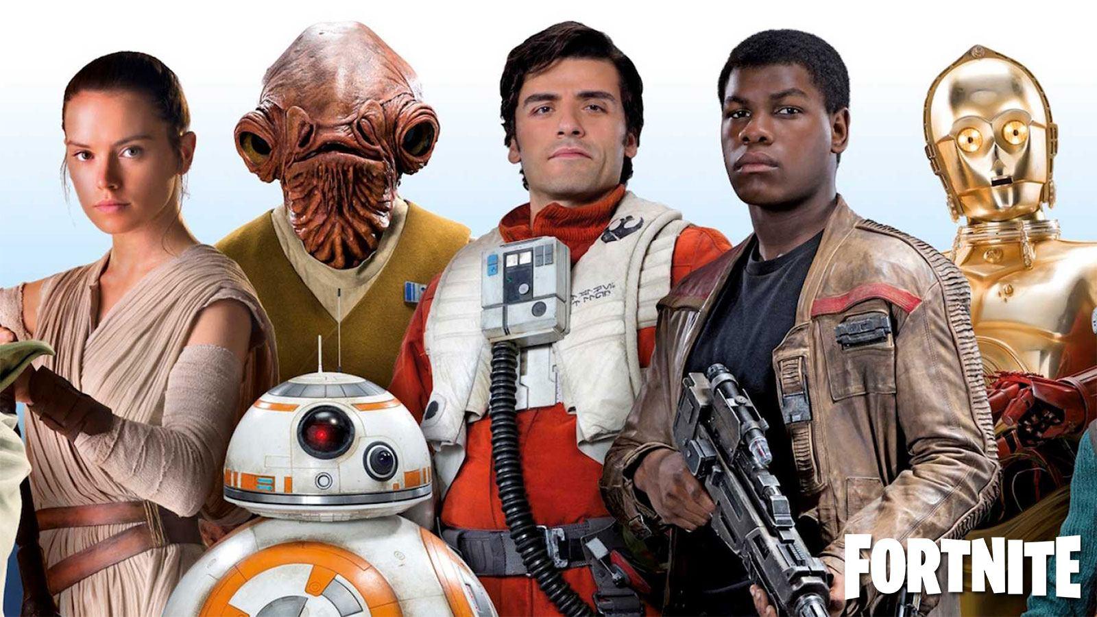 Personnages de Star Wars dans Fortnite