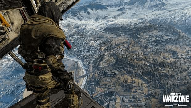 Call of Duty : Warzone saut Verdansk