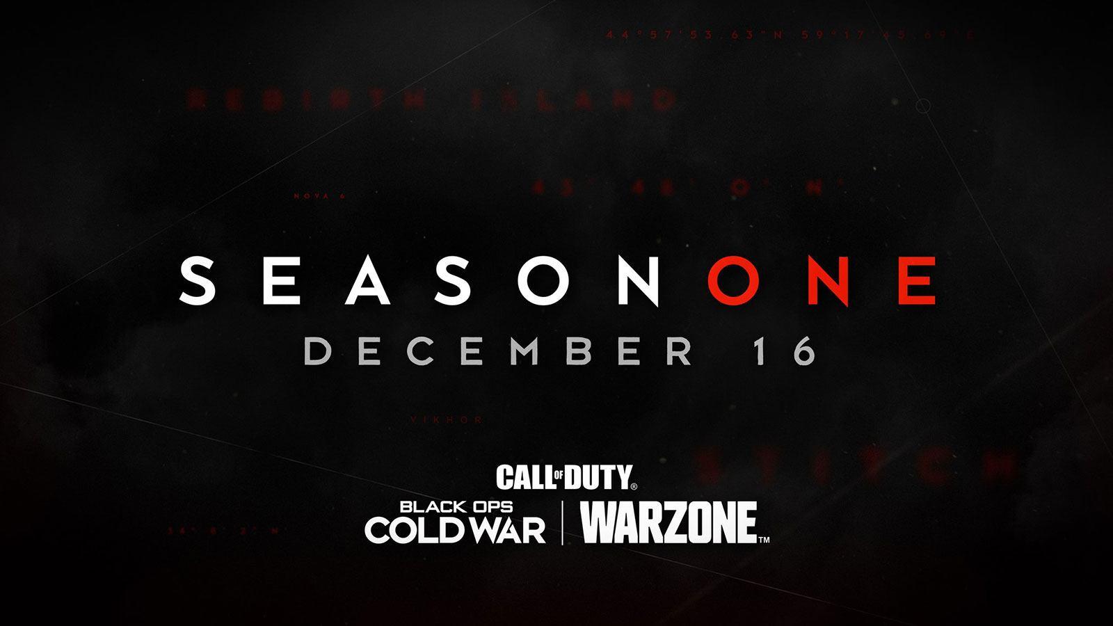 annonce Warzone BOCW Saison 1 16 décembre Activision