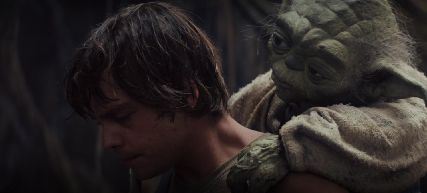 L'entraînement de Luke par Yoda