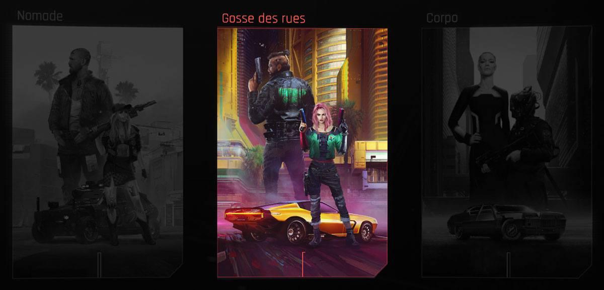Parcours Nomade dans Cyberpunk 2077