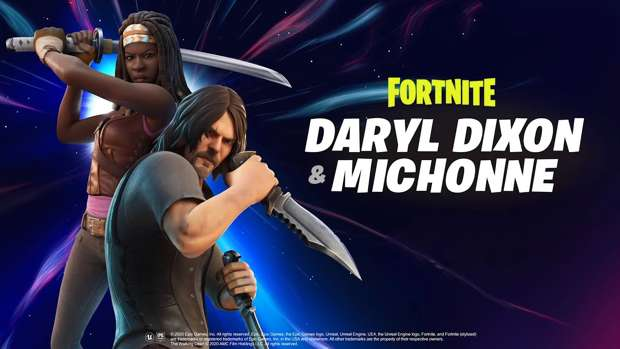 skins Michonne Daryl The Walking Dead Fortnite