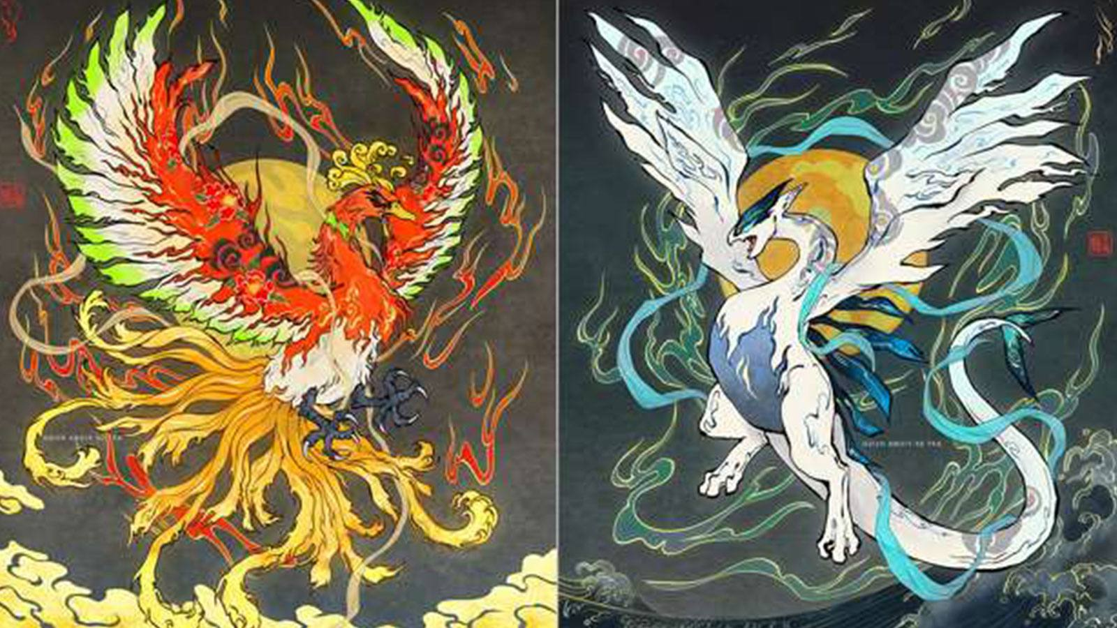 Fiona Hsieh ilustration Lugia Ho-Oh