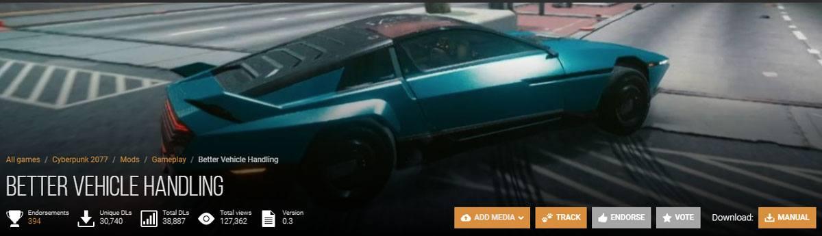 Mod conduite sur Cyberpunk 2077