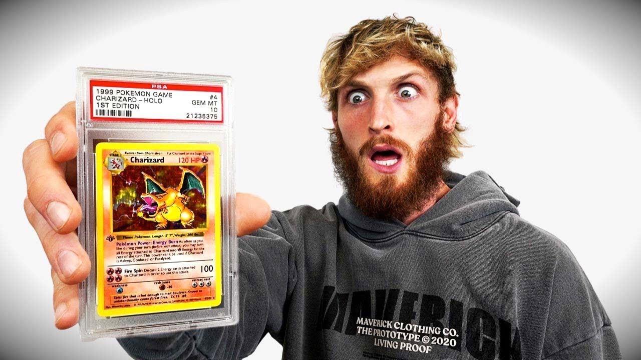Logan Paul et sa carte Dracaufeu