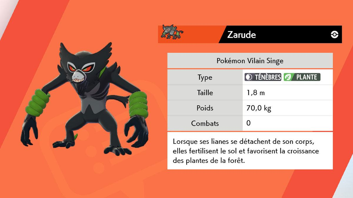Zarude dans Pokémon
