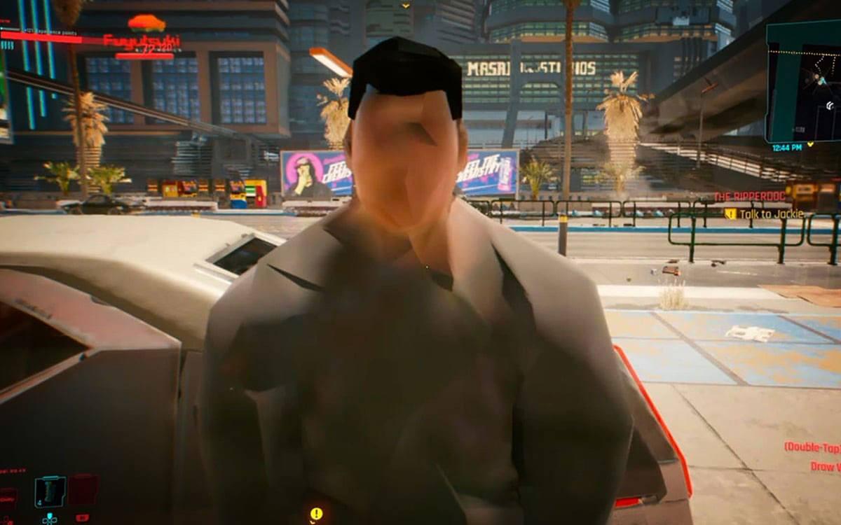 Graphismes de Cyberpunk 2077 sur PS4
