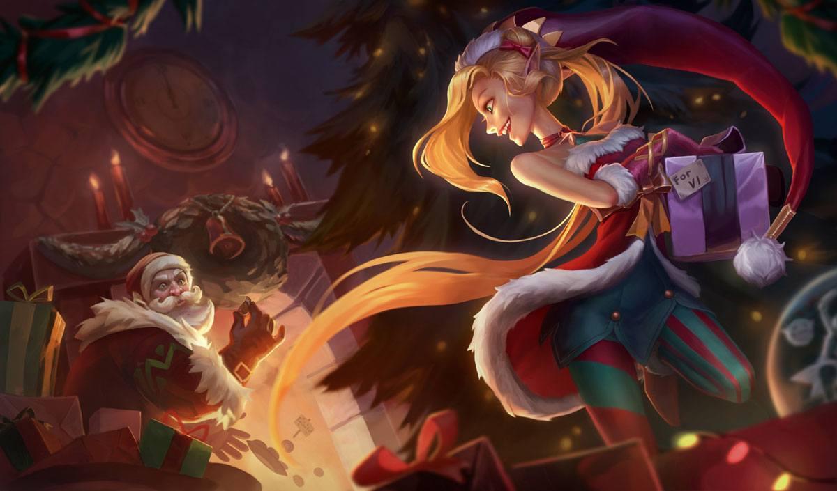 Skin Noël de Jinx sur LoL