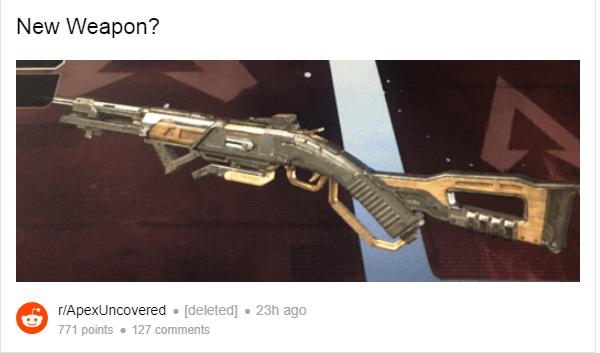 Nouvelle arme Apex Legends