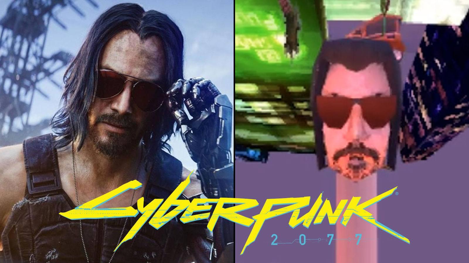 Version mème de Cyberpunk 2077 sur PS1