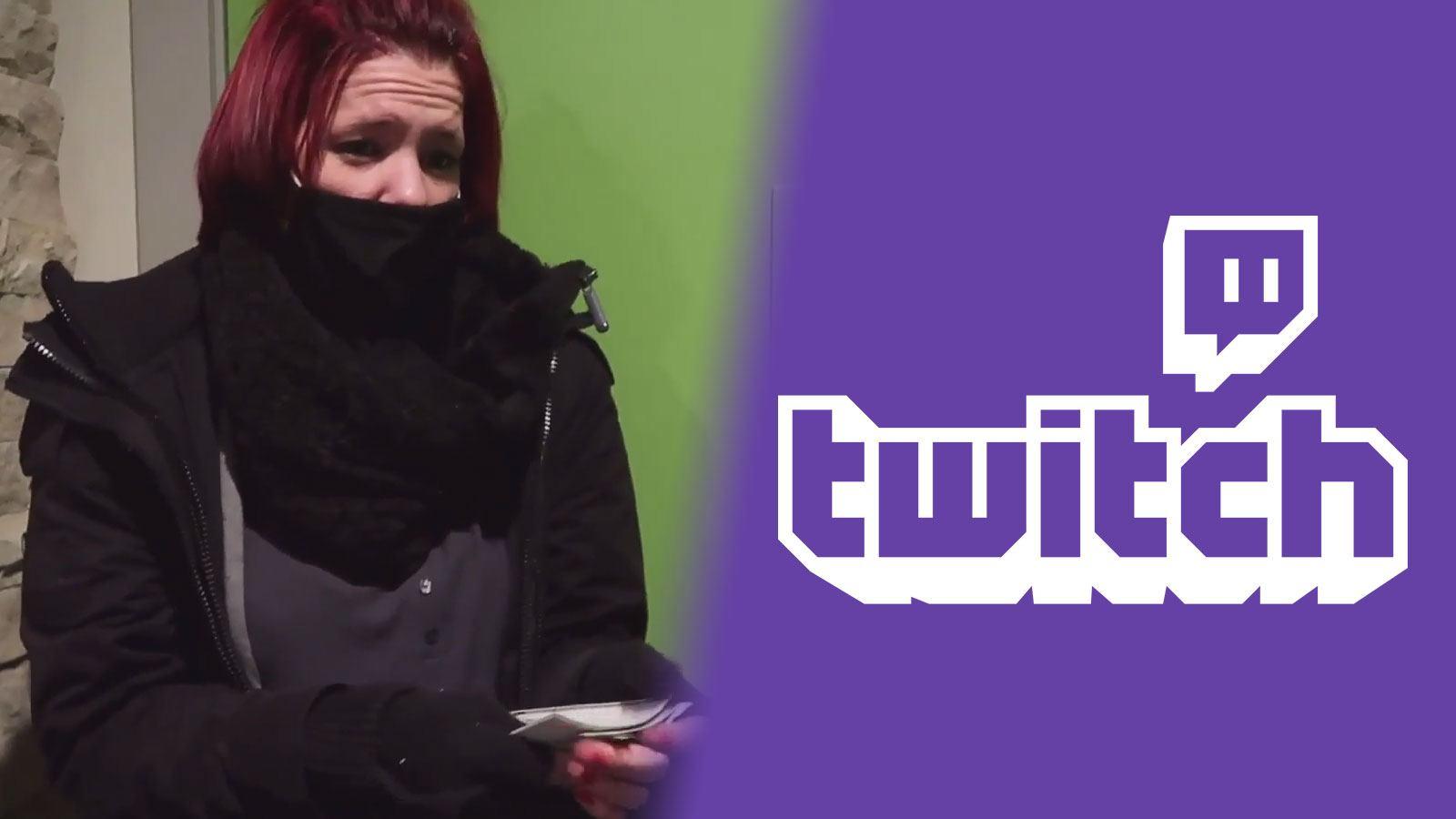 Cadeau d'un streamer Twitch à une livreuse