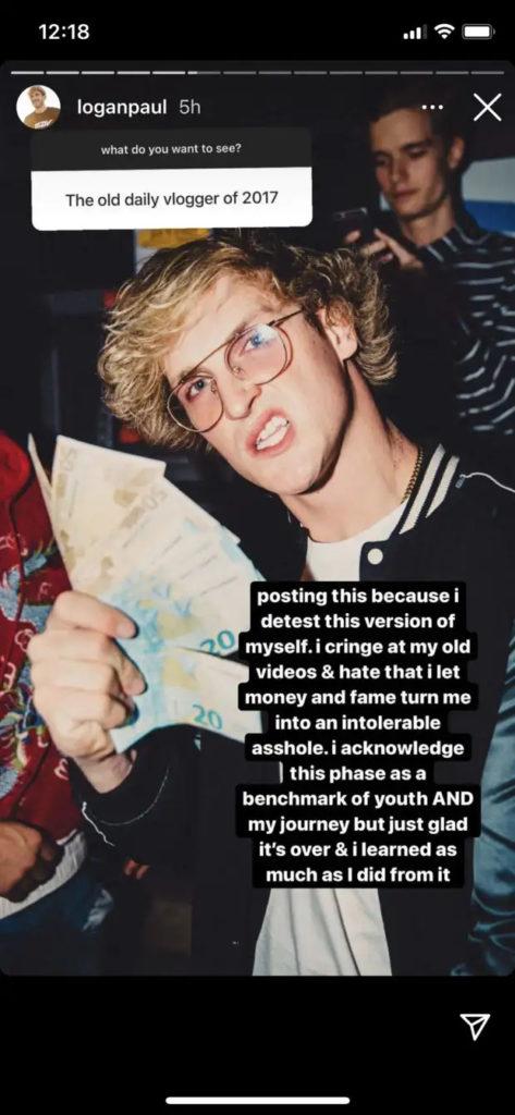 Logan Paul a confié qu'il détestait ses anciennes vidéos