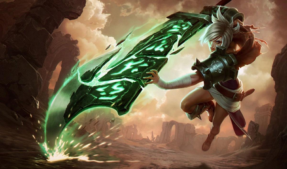 Le champion Riven dans League of Legends