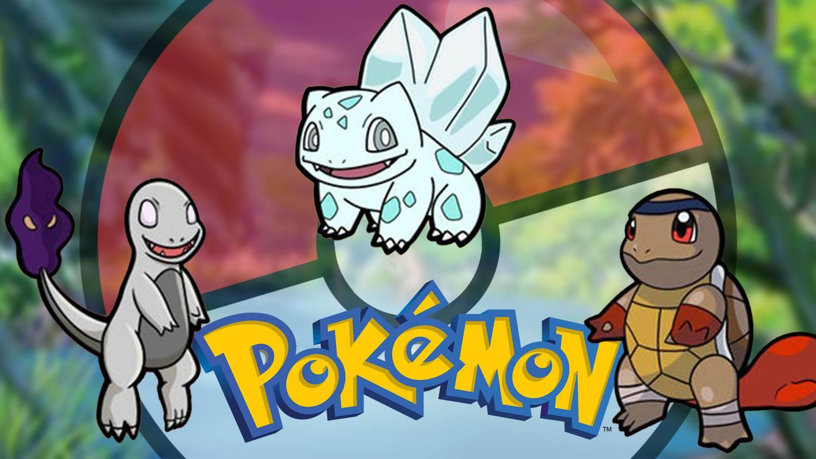 Versions alternative des Pokémon starters de 1G