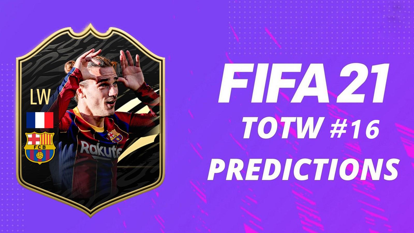 Prédictions TOTW 16 FIFA 21