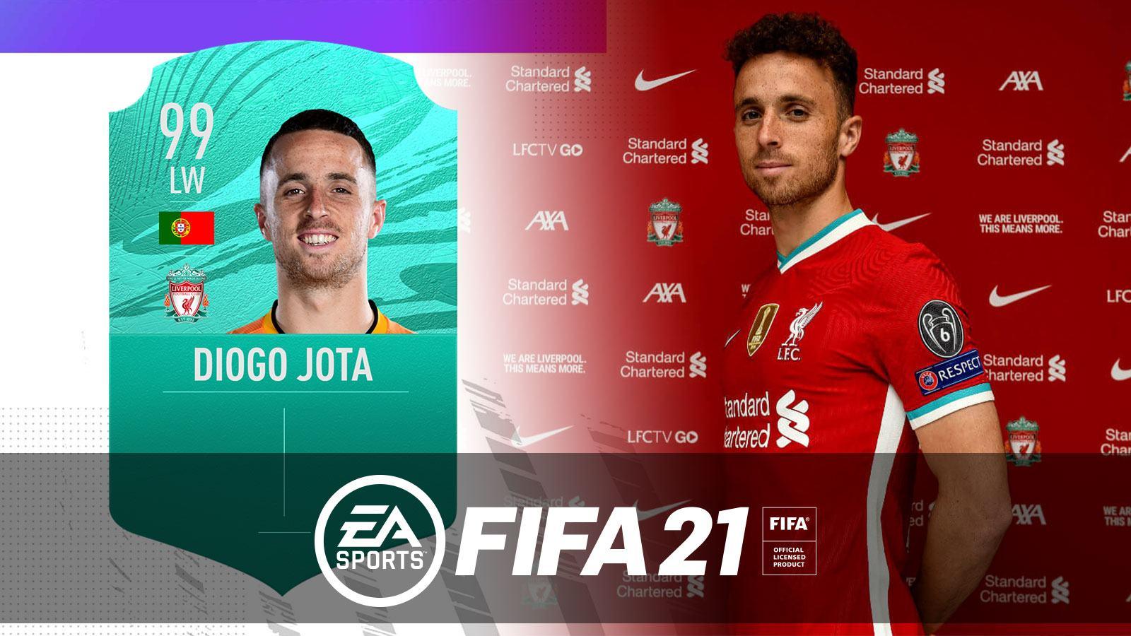 L'équipe FIFA 21 de Diogo Jota