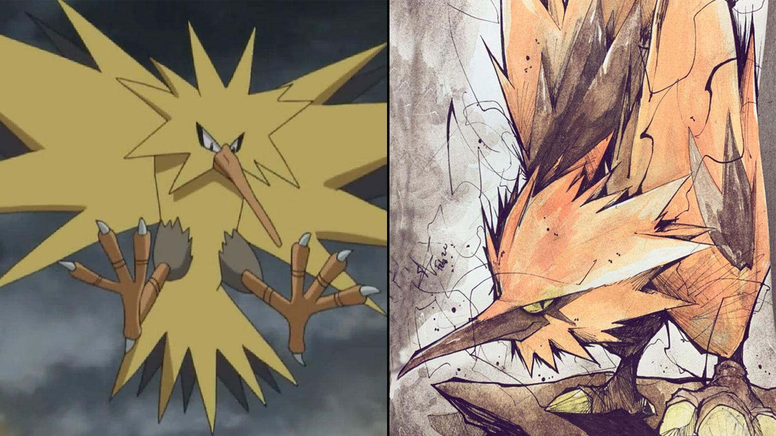 Dessins des 3 oiseaux légendaires Pokémon
