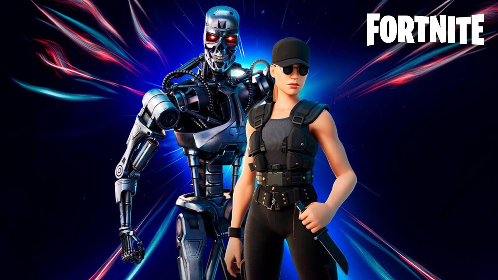 Terminator T-800 et Sarah Connor Fortnite