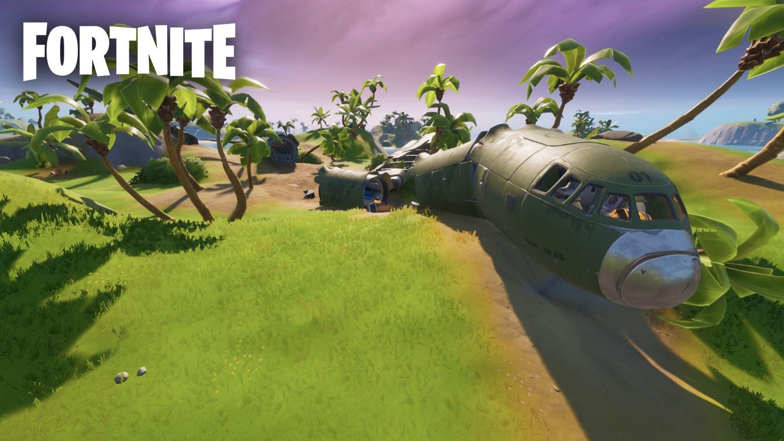Boîte noire avion écrasé Fortnite