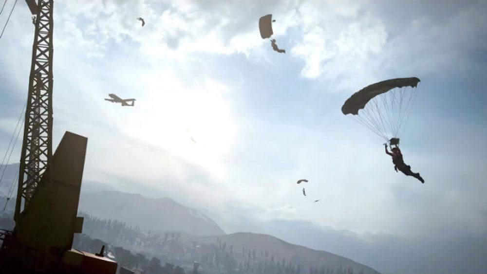 Parachute dans Warzone